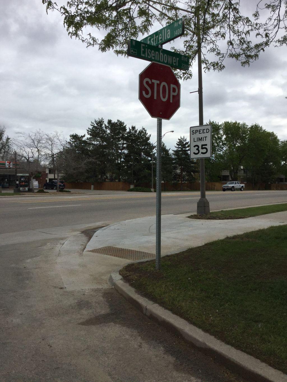 New ramp: Eisenhower and Estrella