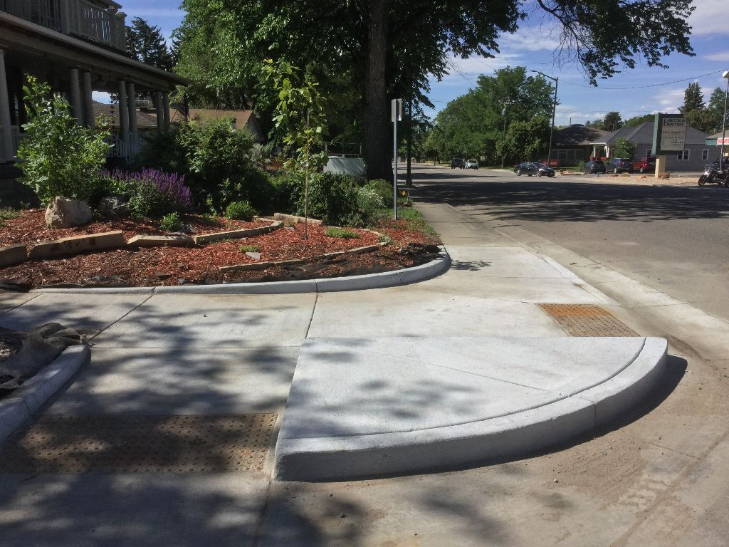 New ramps and refurbished sidewalk: Lincoln in Loveland