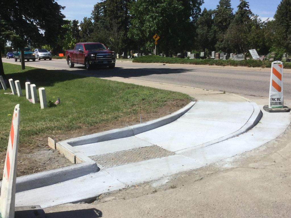 Ramp upgrade in progress: Lincoln and 22nd