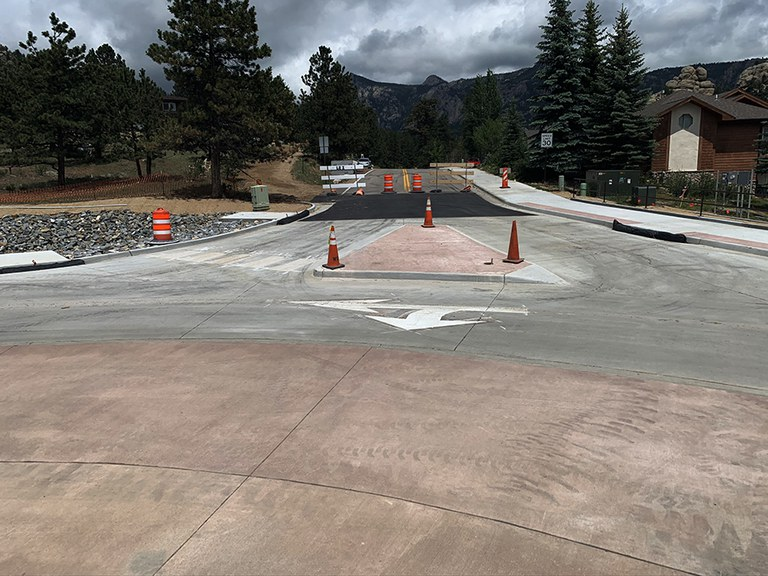 Traffic Directional Marking on US 34 MacGregor Roundabout
