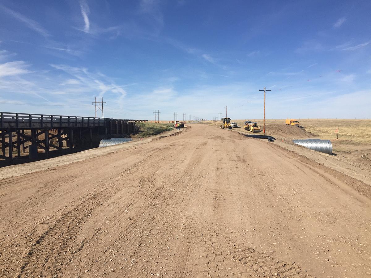 West bridge detour road: October 2017