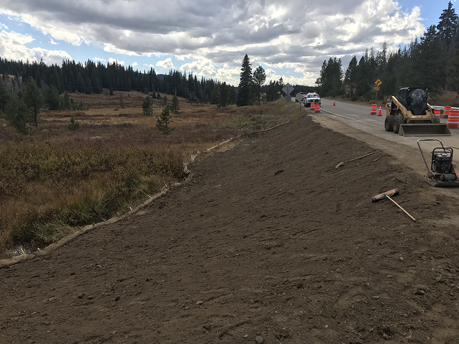 Drainage Improvement Work Complete at Culvert Near the Summit