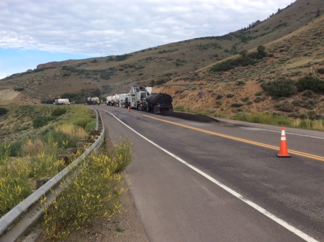 US 50 Blue Mesa: Cold-in-place asphalt recycling--July 20, 2017