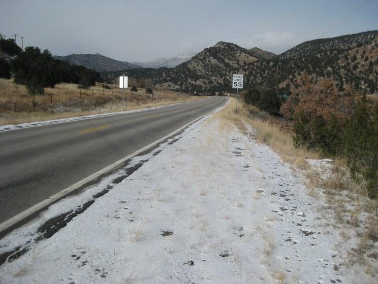 US 50 southeast of Salida