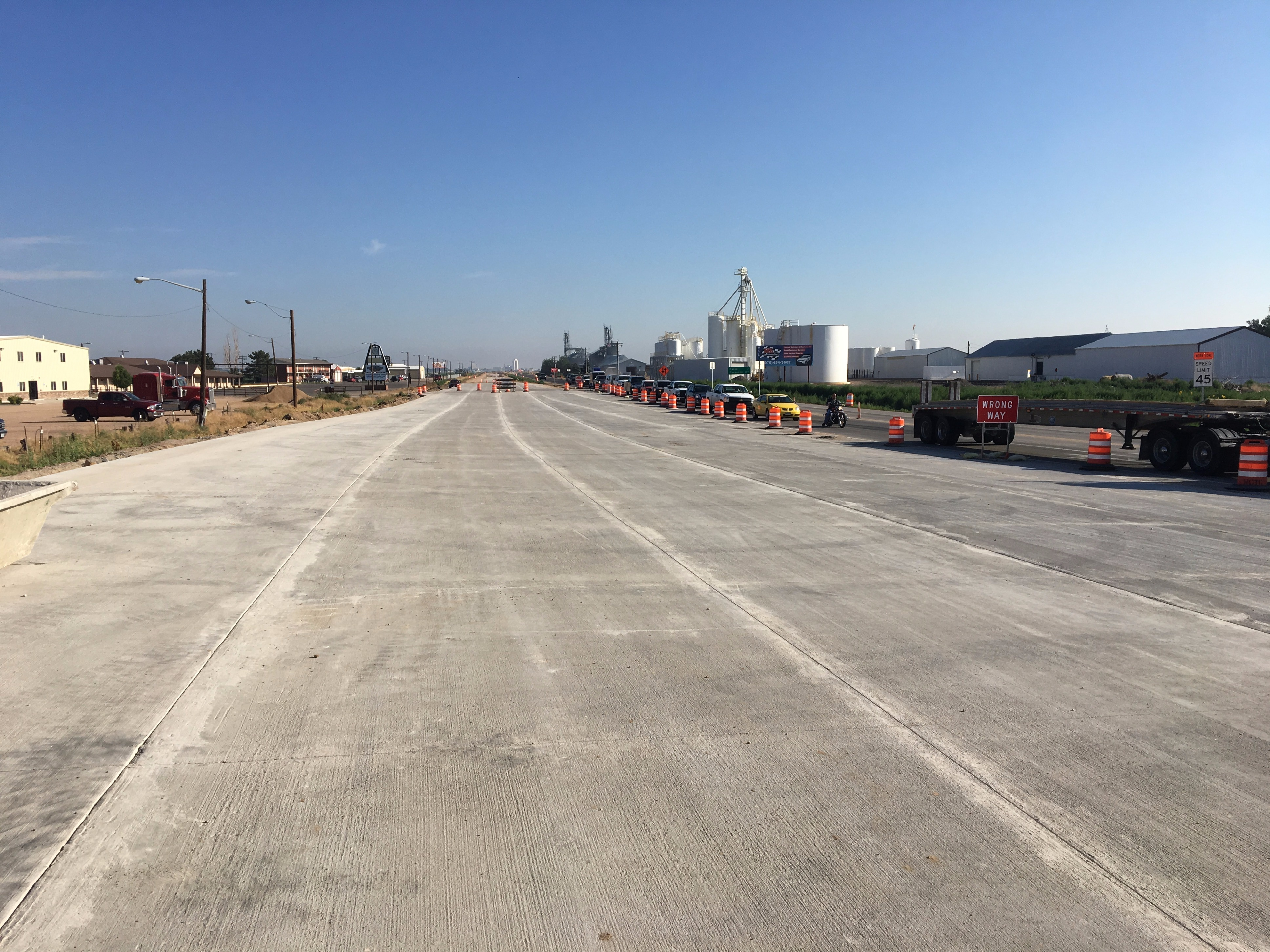 US 85 Southbound New Concrete Pavement at Intersection