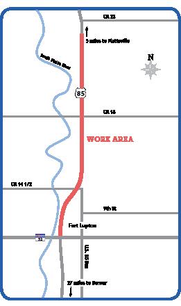 US 85 Resurfacing Map detail image