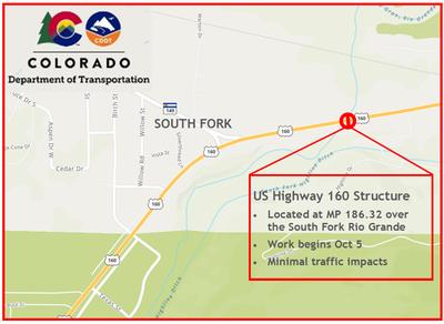 US 160 Scour Mitigation Map
