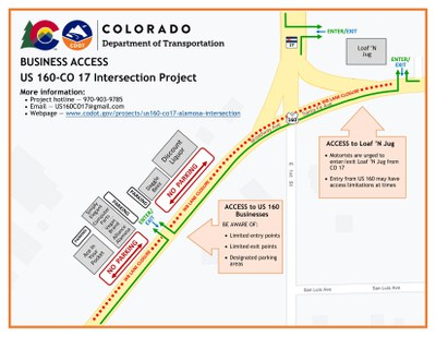 US 160 & CO 17 Project Map