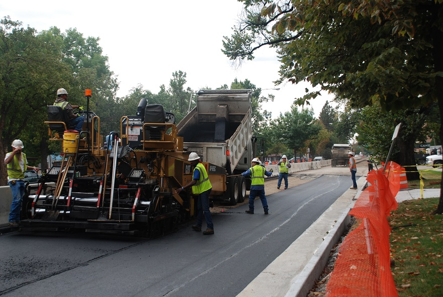 Southbound College paving   Sept 2015 detail image