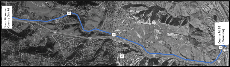 US 40 Project Map