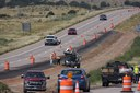 Crews drilling holes for cable rail posts on US 50 west of Penrose.jpg thumbnail image