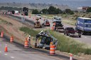 Drilling and anchoring in progress on US 50 for cable rail posts.jpg thumbnail image