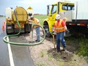 Crews conduct boring of electrical conduits for the ramp metering project. thumbnail image