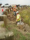 Caissons are placed for the new traffic signals. During Construction. thumbnail image