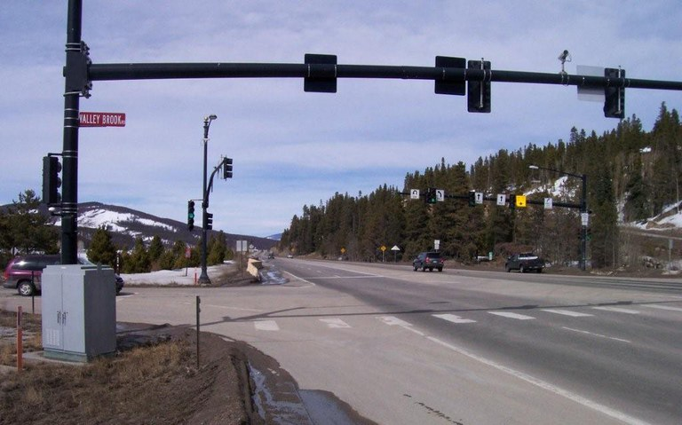 State Highway 9 between Valley Brook and Coyne Valley in Breckenridge