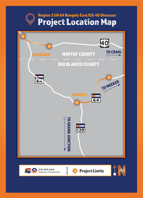 CO 64/US 40 Rangely Map