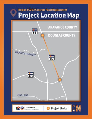 CO 83 Concrete Panel Replacement Project Map