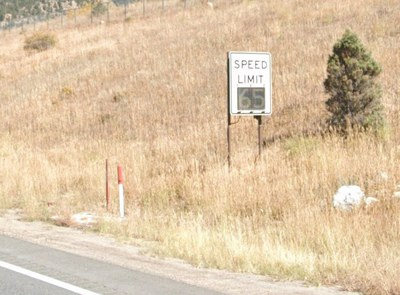 Variable Speed Limit Sign on Eastbound I-70