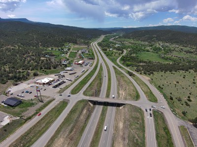 Overview of I-25 Exit 11 Southbound