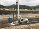 wide view of pre drilling h pile in progress.jpg thumbnail image