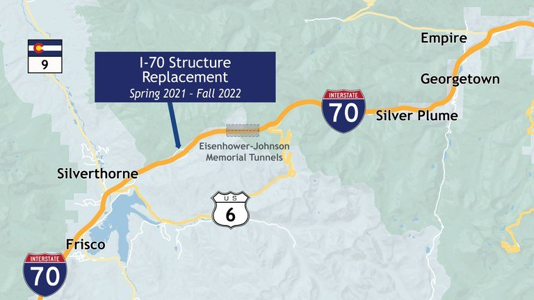 I-70 Structure Replacement Project Map