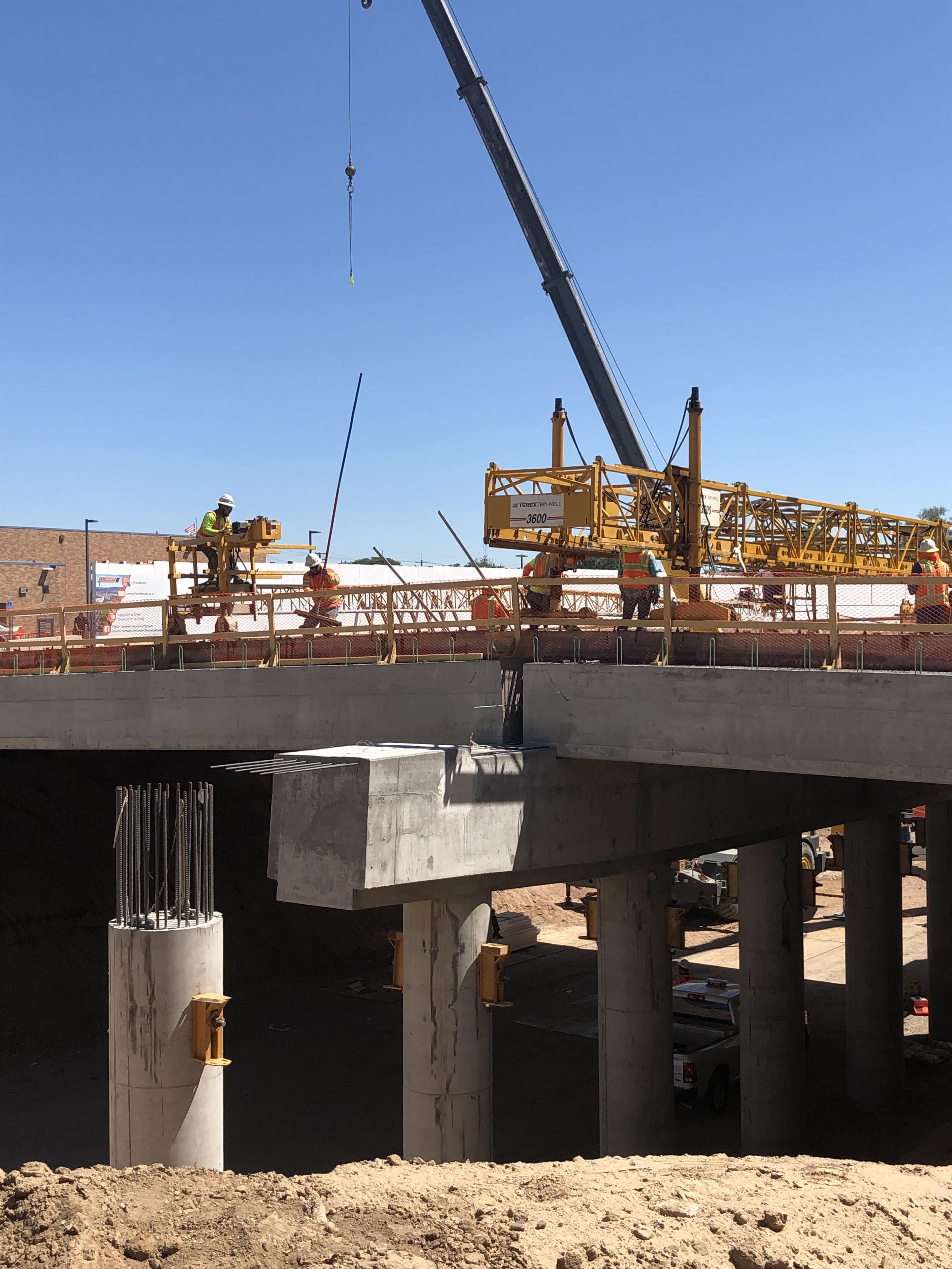 Crews near Columbine Street bridge detail image