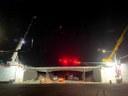 I-70 over Monaco Street bridge bridge beam placement