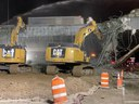 Demolition near Brighton Boulevard