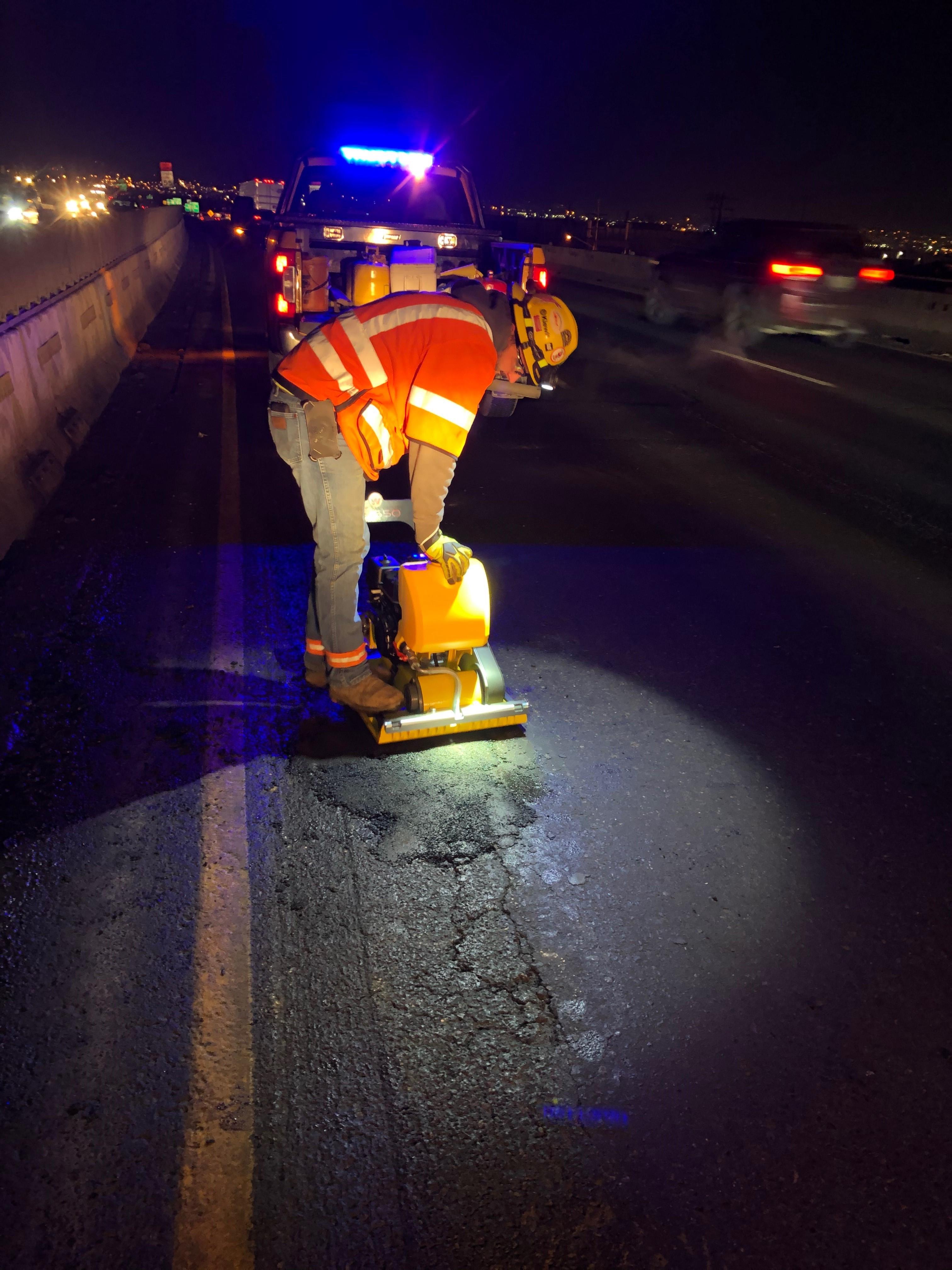 Pothole repairs near Colorado Boulevard detail image