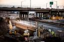 Union Pacific Railroad (UPRR) bridge over I-70 construction