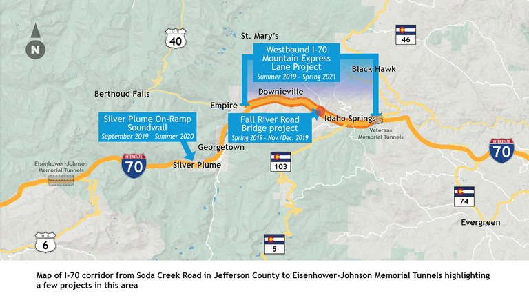 I-70 Project Map Nov. 1 2019