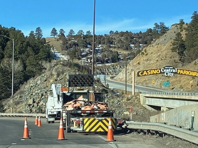 Attenuator truck at Exit 243