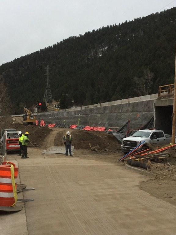 Culvert extension progress at Exit 241