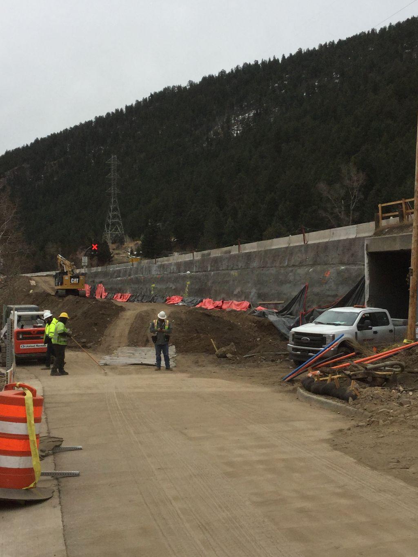 Culvert extension progress at Exit 241 detail image