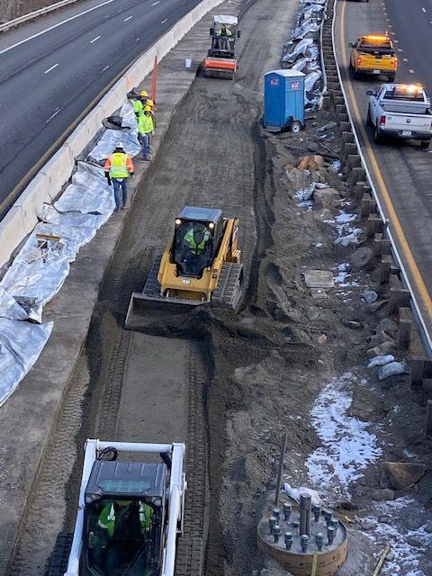 Eastbound I-70 median grading at MP 231