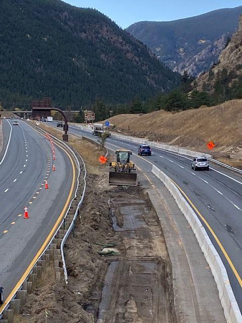 Westbound median work exit 232