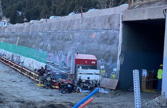 Wide shot culvert extension and wall