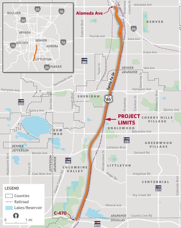 Santa Fe PEL study project map