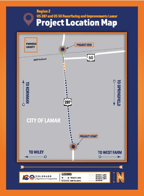US 287 Project Map