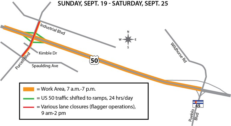 US 50 Purcell project map Sept. 19