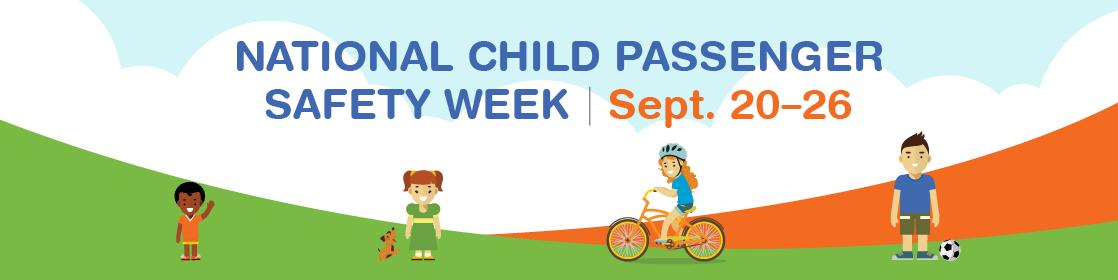 Child Passenger Safety Week 2020 banner