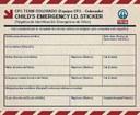 Kid Emergency ID Sticker Page 1 thumbnail image