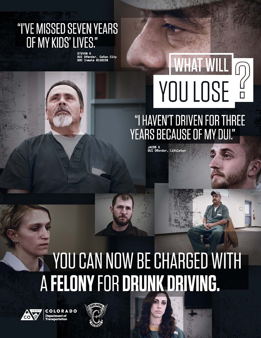 Felony DUI Poster: English 17x22