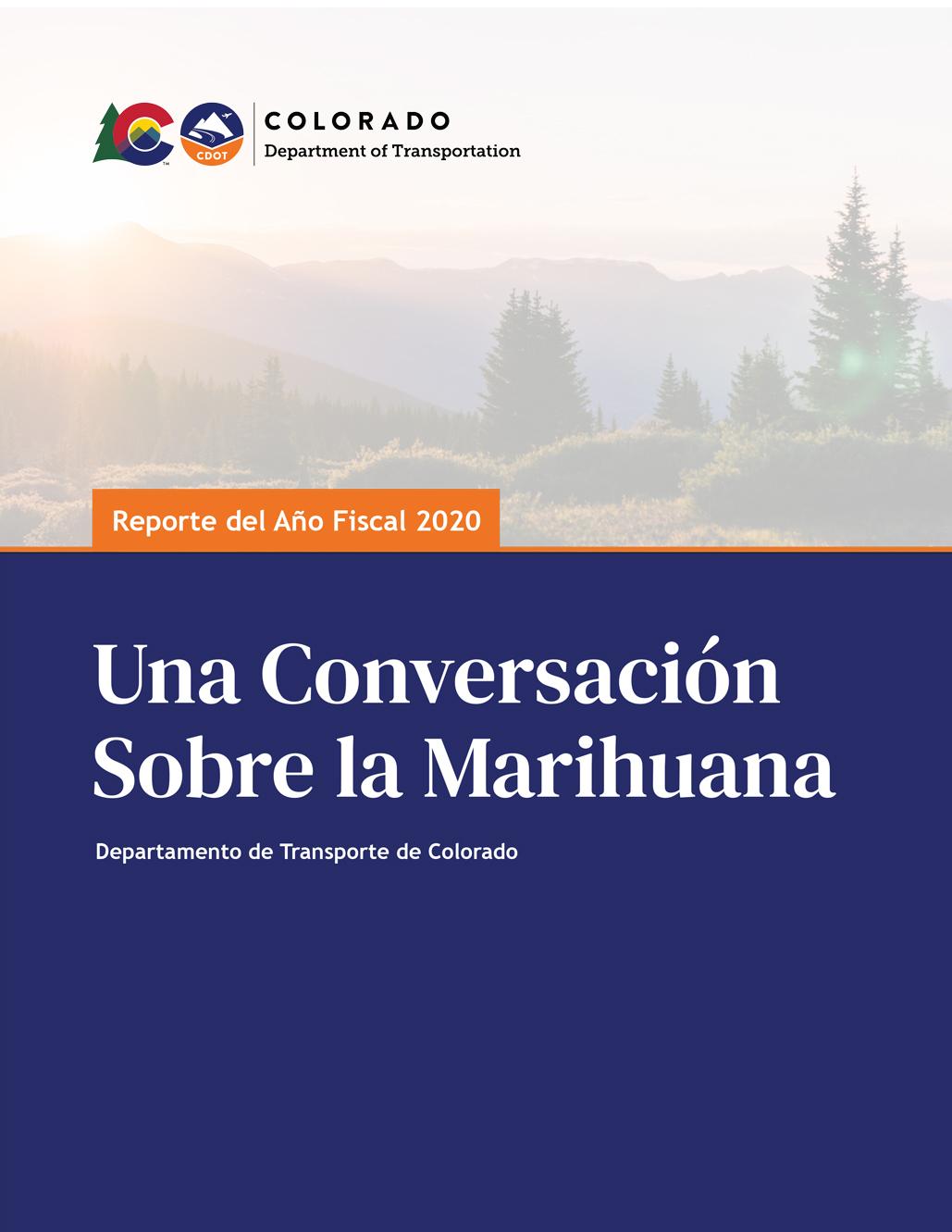 el reporte de Una Conversación sobre la Marihuana forro