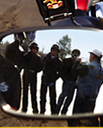 Group of motorcycle riders receiving instruction and training on safety thumbnail image