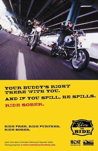 Ride Sober Buddy poster