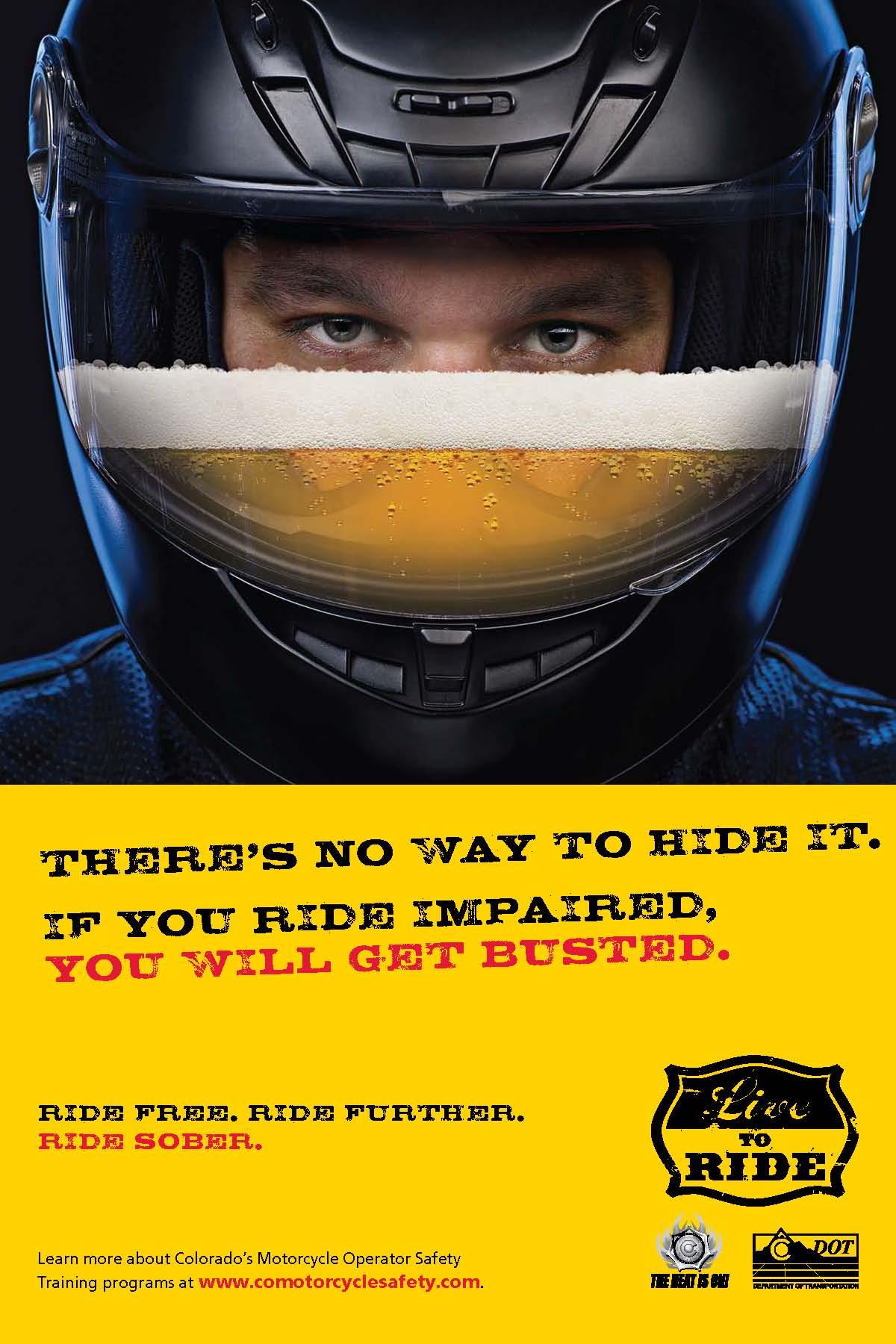 RideSober - Beer helmet detail image