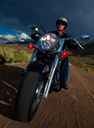Motorcyclist riding thumbnail image