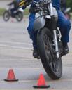 Rider navigating through two cones thumbnail image