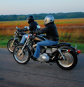 Two riders on the highway thumbnail image